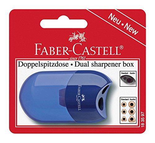 Faber-Castell 183597 - Doppelspitzdose, farblich sortiert in rot und blau -keine Farbauswahl möglich-