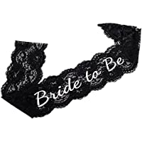 Haute Soire - Elegant Lace Bride to Be Sash - Stylish Accessory - Black Sash For Hen Night, Bachelorette Parties and Bridal Showers
