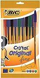 BIC Kugelschreiber Cristal Original fine (mit Kappe, 0.3 mm) Beutel à 10 Stück, sortiert