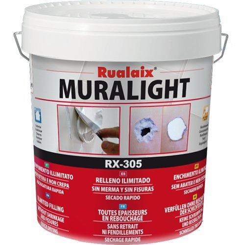 Superior Rualaix RX 305 Muralight   Masilla Extrablanca, Bote De 750 Ml