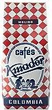 Cafes AMADOR - Cafe molido natural arabica 100% - Colombia - Café tostado de origen colombiano gourmet - 250gr (Molido grueso para cafetera italiana / cafetera francesa / embolo)