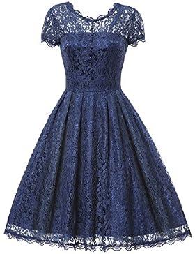 Gigileer Donna Pizzo Vestito Estive Vintage 1950s Elegante Cerimonia Abito Da Sera