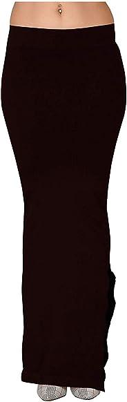 Hopz Women Black Color Microfiber Fabric Saree Shapewear