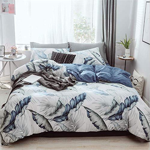 ican Style Weiche Bettbezug Sets Flache Bettdecke Twin Bettwäsche Set C 229x229cm ()
