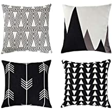 Uarter Dekorative Case Set Baumwolle Leinen Dekokissen Deckt Kissenbezug  Mit Unsichtbaren Reißverschluss, Geometrische Muster,