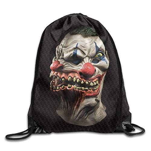 Icndpshorts Scary Clown Mask Gym Drawstring Bags Backpack