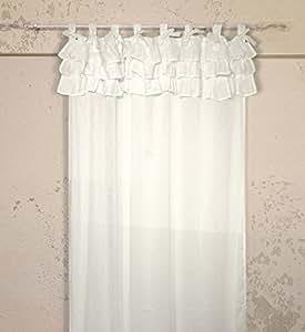 Tenda con balze Shabby Chic Etoile Collection 130 x 290 cm Colore Off White