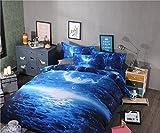 Global- Simple Estilo Moderno Estrella Empty Pattern Imitación 3D Efectos Textiles para el hogar Suministros, Material de algodón Ropa de cama * 1, Funda de edredón * 1, funda de almohada * 2 ( Tamaño : 1.5m (5ft) Bed )