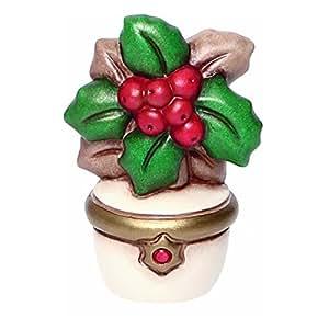 THUN Vasetto con Agrifoglio Oggetti Decorativi, Ceramica, Variopinto