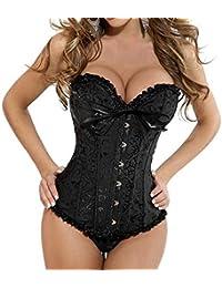 emmarcon sexy corsetto bustino burlesque stringi vita lingerie intimo da donna C8199