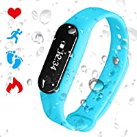 PADGENE Bracelet Connecté Cardiofréquencemètre Podomètre Calories Sommeil Tracker d'Activité Bluetooth 4.0 USB Étanche IP65 Montre Sport Homme Femme pour iOS iPhone Android
