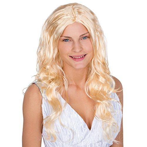 Perücke Bad Girl Blonde (Perücke Blond | lange glatte Haare | Engel Matrose Antike Weihnachten)