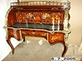 LouisXV Barock Schreibtisch Sekretär Barock MoSc0454SkGn antik Stil Massivholz. Replizierte Antiquitäten Buche Antikmessing.