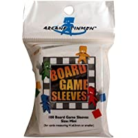 Asmodee - AT-10405 - Board Game Sleeves - Clear Mini Fits Cards - 41 x 63 mm