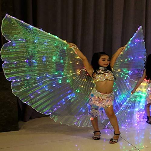 liuhoue Kinder Farbe Led Leuchtende Flügel