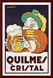 Herbé TM Poster/Reproduction A3+ (33x48cm) d'1 Affiche Vintage/Ancienne/Rétro :BIèRE QUILMES Cristal (BR*)