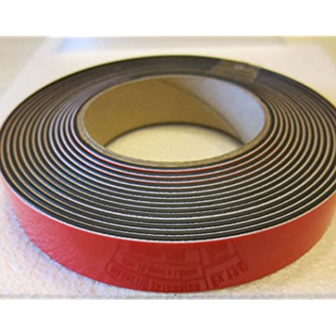 supa-mag nastro magnetico, mag B con adesivo in schiuma e rivestimento UV sul lato magnetico. 25,3mm larghezza x 1,5mm di spessore magnete Plus Schiuma da 1mm. Forza magnetica 170± 5g/cm di lunghezza. Fornito in rotoli di 1m, 5m, 30m o una scatola di 10off 30m