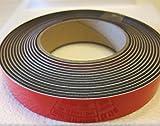supa-mag cinta magnética, Mag B con adhesiva de espuma y revestimiento UV en la cara magnética. 25,3mm de ancho x 1,5mm de grosor imán Plus 1mm espuma. Tornillos 170± 5G/cm de longitud. Suministrado en rollos de 1m, 5m, 30m o una caja de 10a 30m rollos