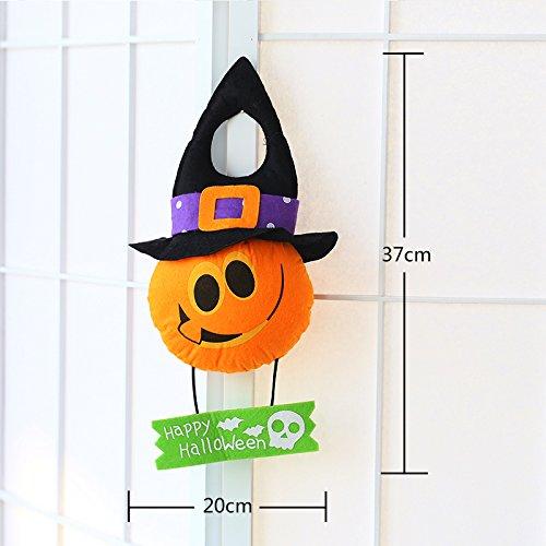 ekoration Zubehör ghost House Bar propshalloween Veranda hängende Türen Hexe Teufel Puppen, Tsim - kleiner Kürbis Puppe Türen (Dekorieren Türen Für Halloween)