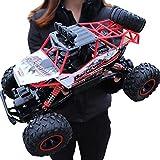 RC Voiture Télécommandée - 4WD,2.4Ghz Voiture à Grande Vitesse de,avec Cadeau de Surprise pour garçons - Étanche/Antichoc (Rouge) Voiture Électrique Rapide Véhicule Buggy Monstre