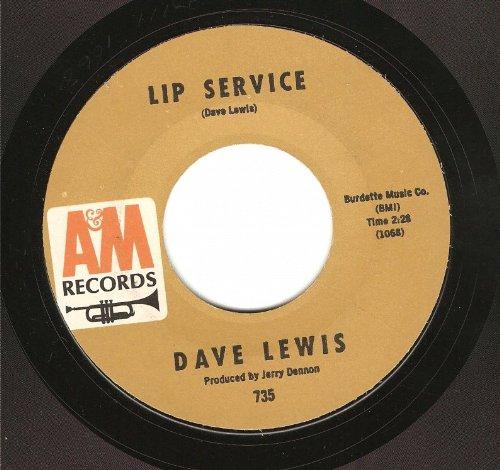 Lip Service Vinyl (Dave Lewis: Lip Service / Little Green Thing - A&M - 7
