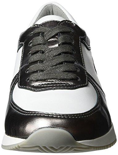 ara Damen Lissabon Sneaker Grau (Street,weiss)