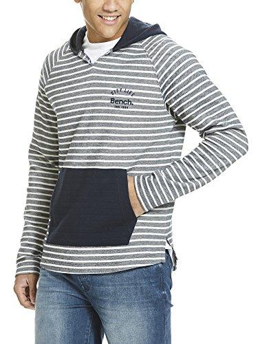 Bench Herren Kapuzenpullover Yd Stripe Hoodie Blau (Dark Navy Blue NY031)