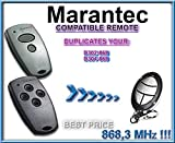 Marantec D302-868 / D304-868 compatible mando a destancia, 868,3Mhz fixed code CLON, 4-canales reemplazo transmisor Al mejor precio!!!