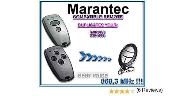 T/él/écommande clone de rechange Marantec D302-868//D304-868 clone /à code fixe de 868,3/MHz
