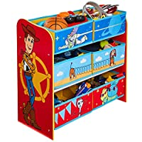 Disney Story 4 Kids Bedroom Toy Storage Unit with 6 Bins by HelloHome, 60cm (H) x 63.5cm (W) x 30cm (D)