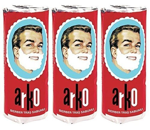 3 Arko Shaving Soap Stick 70 gm (set of 3) - FAST Shipping - USA Seller by Arkos