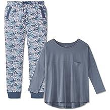 de0cef53a7 Schiesser Mädchen - Teens Schlafanzug mit Joggpants Aus der Serie Mix &  Relax Jeansblau