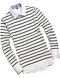 New! Men's O-Neck Knittin T-Shirt (Without Shirt & Collar) Hori_Stripes