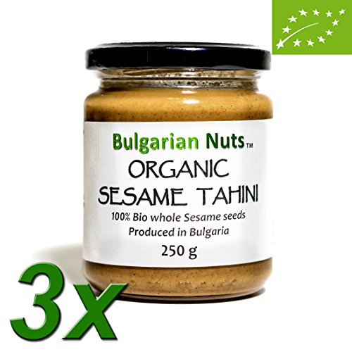 Bio-sesam-butter (750 g Bio-Sesambutter aus 100% Sesam, Vollkorn butter, ohne Salz, ohne Zucker, ohne Zusatzstoffe, ohne Konservierungsstoffe, nur Sesambutter, vegan und gesund)