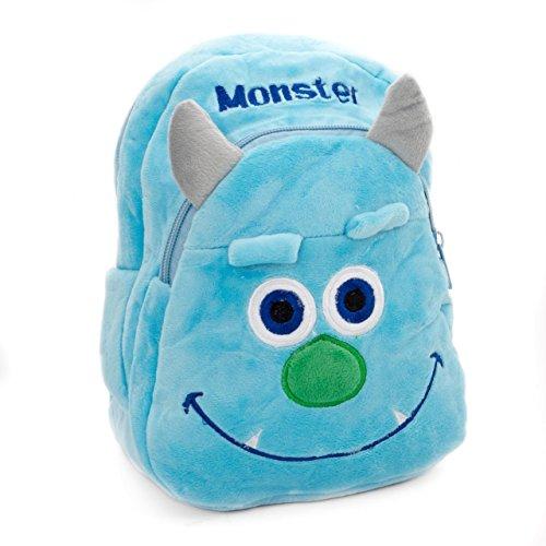 Lantelme 5749 Kinder Rucksack für Kindergarten - Kinderkrippen und Reise - Monster Maxi Farbe blau und grau