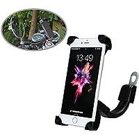 Motociclo supporto telefono, SUNSEATON universale titolare scooter / moto elettrica retrovisore specchio telefono supporto per iPhone 8/8Plus/7/7Plus/6s/6/5s/4s/Ipod/GPS/MP4/Samsung S7/S6/Edge ecc.
