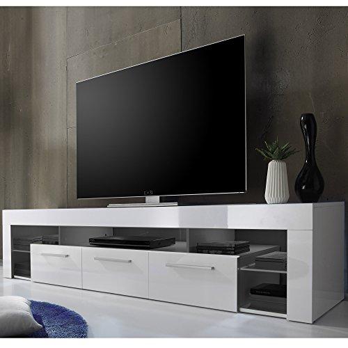 trendteam SC85201 TV-Möbel, Lowboard, Weiß Hochglanz - 2