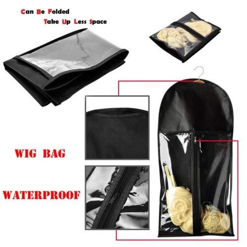 Igemy Extensions de cheveux Perruque de stockage de support de sac à la poussière étui protecteur pliable
