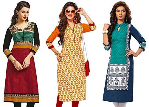Jevi Prints Women's Cotton Dress Material (Saheli-1215-1419-1513_Free Size_Multi-Coloured)