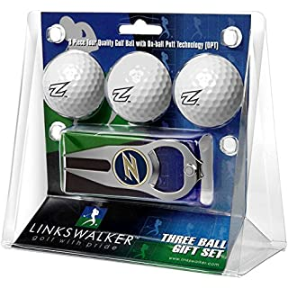 LinksWalker Akron Zips - 3 Ball Gift Pack with Hat Trick Divot Tool White, One size