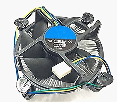 Neuf Core i3/i5/i7Socket 1150/1155/1156connecteur 4broches refroidisseur de processeur avec dissipateur thermique en aluminium & 8,9cm ventilateur pour ordinateur PC de bureau