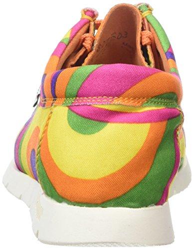 SiouxGrashopper-D-141 Cotton-Print - Mocassini Donna Multicolore (lollipop)