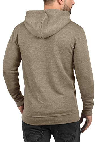 !Solid Olli Ziphood Herren Sweatjacke Kapuzenjacke Hoodie mit Kapuze Reißverschluss und Fleece-Innenseite, Größe:L, Farbe:Sand Melange (8409) - 3