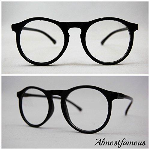 Schlüsselloch Hipster Geek Schwarz Retro Geek Vintage Wayfarer Brille Nerd Frame Fashion Schwarz Clear Lens UK