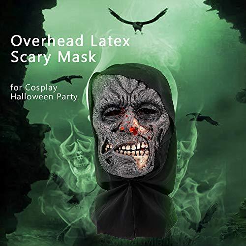 Fäulnis Für Kostüm Erwachsene - Leepesx Cosplay Halloween Maske Overhead Latex Fäulnis Gesicht Kostüm Scary Mask Trick Spiel Spielzeug