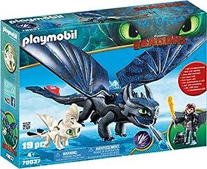 PLAYMOBIL DreamWorks Dragons Hipo y Desdentao con Bebé Dragón, a Partir de 4 Años (70037)