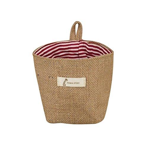 Petit sac de rangement à suspendre Msyou - En lin - Pour jouets, papeterie, bureau, salle de bain 14*12.5cm #1