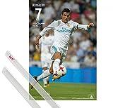 1art1 Poster + Hanger: Fußball Poster (91x61 cm) Real