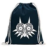 Kiwistar Mask of Majora La Leggenda di Divertente Zaino Sportivo per Il Fitness. Gymbag per Lo Shopping in Cotone con Coulisse