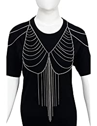 Bijou Vertex Silver Body & Shoulder Chain With Tassels (Now Avail Extra 10% Discount For Limited Time) Offer Is...
